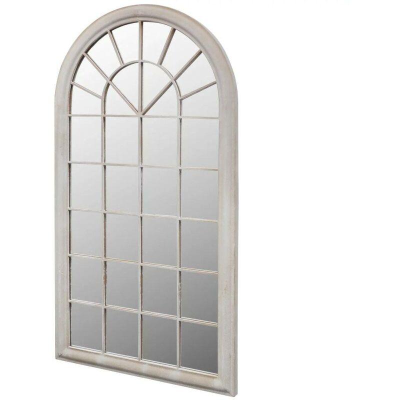 VDTD26409_FR Miroir de Jardin Arche rustique 116 x 60 cm Intérieur et Extérieur - Topdeal