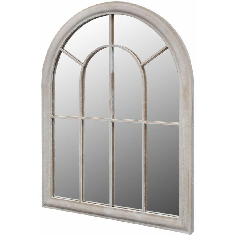 Miroir de Jardin Arche rustique 89 x 69 cm Interieur et Exterieur