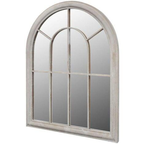 Miroir de Jardin Arche rustique 89 x 69 cm Intérieur et Extérieur HDV26410