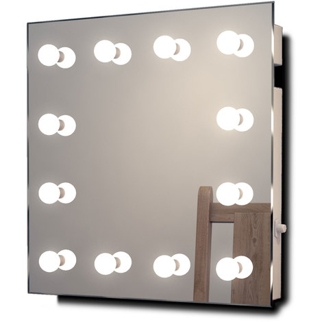 Miroir De Maquillage Hollywood Lampes Led Blanches Chaudes