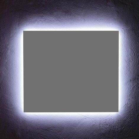 MIROIR DE MEUBLE DE SALLE DE BAIN 70x60 CM AVEC RETROILLUMINATION LED
