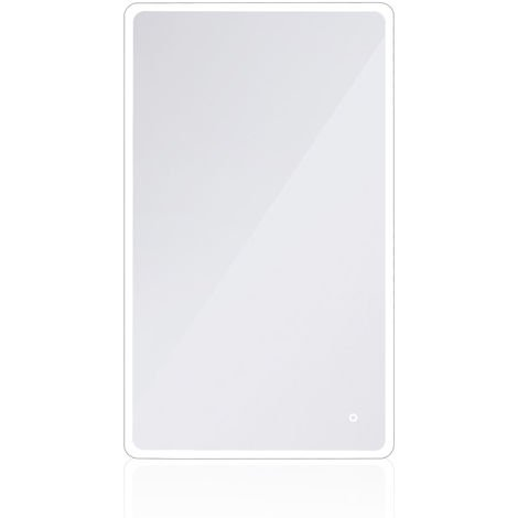 MIROIR DE SALLE DE AVEC LED ANGLES ARRONDIS 120*70 CM DALLAS Miroir de salle de bains à LED de mural pour maquillage avec lumière et touche