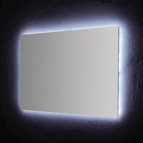 MIROIR DE SALLE DE BAIN 120X70 CM AVEC RÉTRO-ÉCLAIRAGE À LEDS