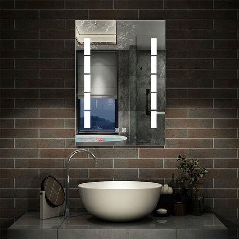 Miroir de salle de bain anti-buée bambou miroir de salle de bain
