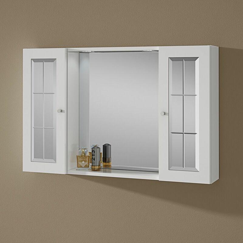 Armoire Salle De Bain Miroir.Miroir De Salle De Bain Armoire Avec Deux Armoires Et Eclairage Modele Tiziana