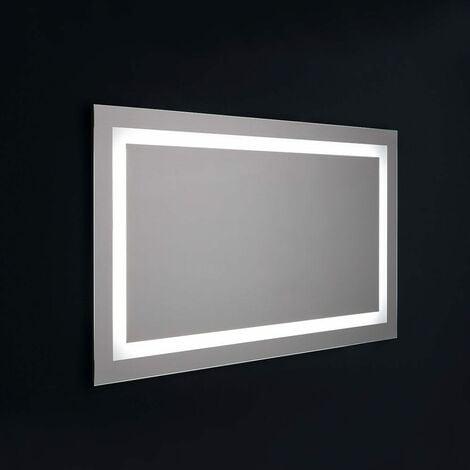 MIROIR DE SALLE DE BAIN AVEC LED CM 120X70 SENSEUR TOUCH RÉVERSIBLE
