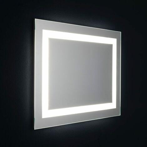 MIROIR DE SALLE DE BAIN AVEC LED CM 80X60 RÉVERSIBLE AVEC SENSEUR TOUCH