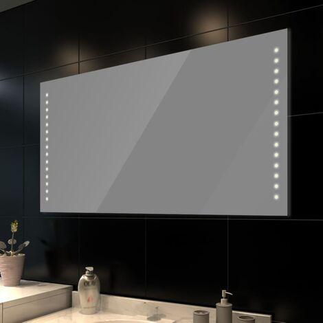 Miroir de salle de bain avec lumières LED 100 x 60 cm (L x H)
