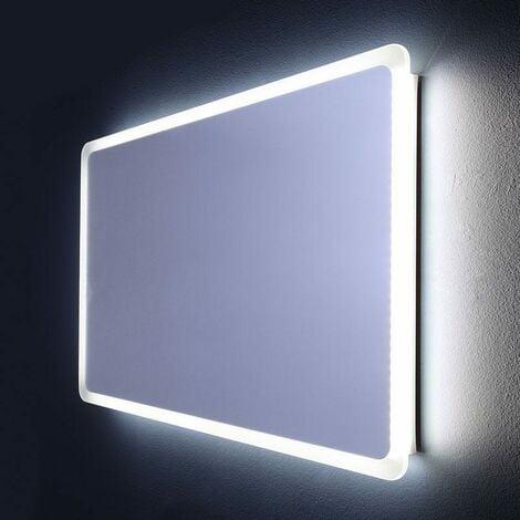 miroir de salle de bain clair avec led angles arrondis. Black Bedroom Furniture Sets. Home Design Ideas