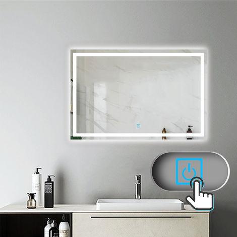 Miroir de salle de bain LED anti-buée Mural Lumière Illumination avec éclairage LED