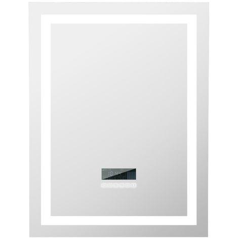 Miroir de salle de bain LED dimmable 80 * 60 cm avec Bluetooth
