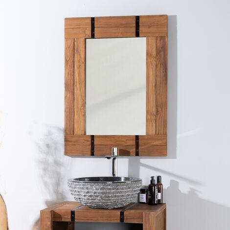 Miroir de salle de bain naturel LOFT 60x80 naturel