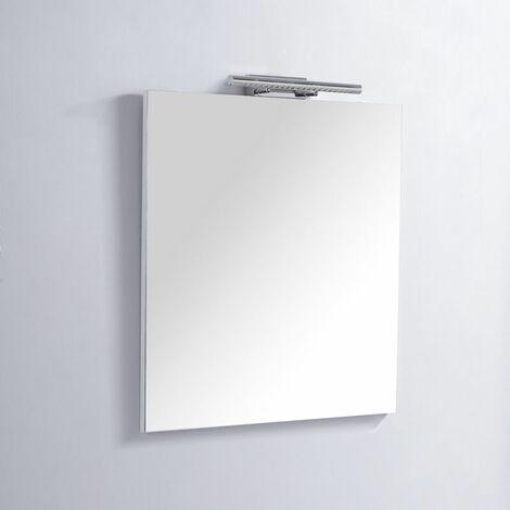 Miroir de salle de bain Rectangle - 60x80 cm - Lampe LED - Classic City 60