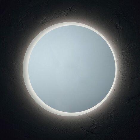 Miroir de salle de bain rond de 70 cm de diam tre r tro clair led moderne 03010641000056 - Miroir rond salle de bain ...