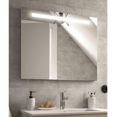 Miroir de salle de bain Sunset 1200 x 600 mm avec bande éclairante LED 12W + système anti-buée 41W