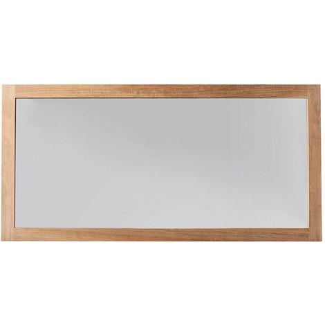 Miroir de salle de bain teck 140x70 cm sana 26158 - Miroir teck salle de bain ...