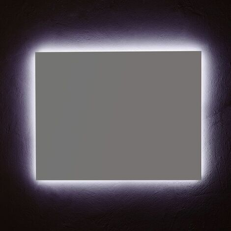 MIROIR DE SALLE DE BAINS 90X70 CM ÉCLAIRAGE À LEDS