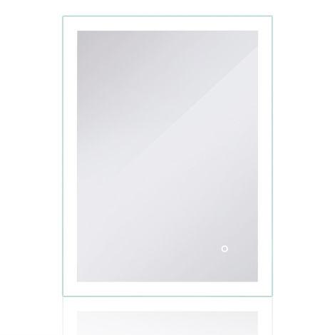 Miroir de salle de bains à LED avec éclairage par surfaces lumineuses dépolies Tactile 80x60cm