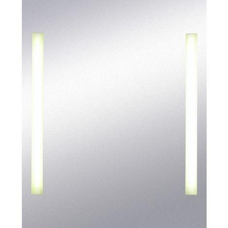 Miroir de salle de bains avec éclairage FLUO - 80 cm x 65 cm (HxL)