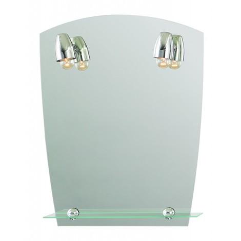 miroir de salle de bains avec clairage fluo compacte. Black Bedroom Furniture Sets. Home Design Ideas