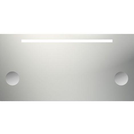 Miroir de salle de bains avec éclairage fluorescent - Modèle Grossissant 120 - 60 cm x 120 cm (HxL)