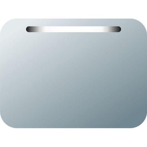 Miroir de salle de bains avec éclairage FLUORESCENT - Modèle NETON 2 - 60 cm x 80 cm (HxL)