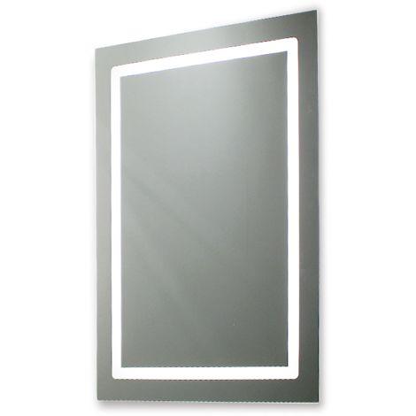 Miroir de salle de bains avec éclairage LED - 80 cm x 60 cm (HxL)