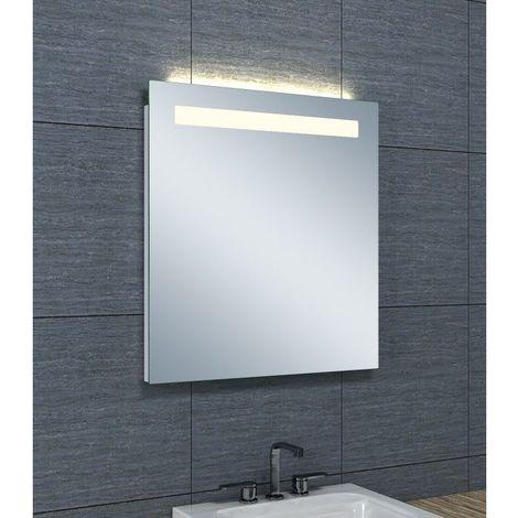 Miroir de salle de bains avec éclairage LED Horizontale - 65 cm x 60 cm (HxL)