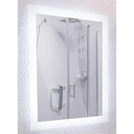 Miroir de salle de bains avec éclairage LED - Modèle 60 - 80 cm x 60 cm (HxL)