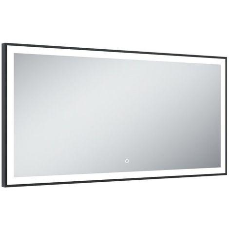 Miroir de salle de bains avec éclairage LED - Modèle Black Mirror - 60 cm x 120 cm (HxL)