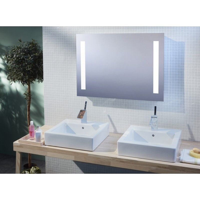 Miroir de salle de bains avec clairage led mod le - Glace de salle de bain avec eclairage ...
