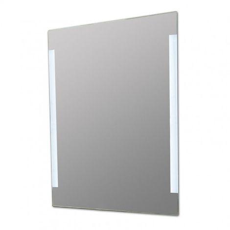 Miroir de salle de bains avec éclairage LED - Modèle Chic et Tendance - 90 cm x 60 cm (HxL)