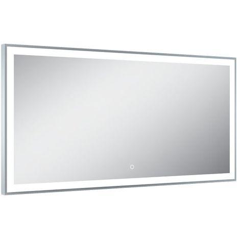 Miroir de salle de bains avec éclairage LED - Modèle Elegant Led - 60 cm x 120 cm (HxL)