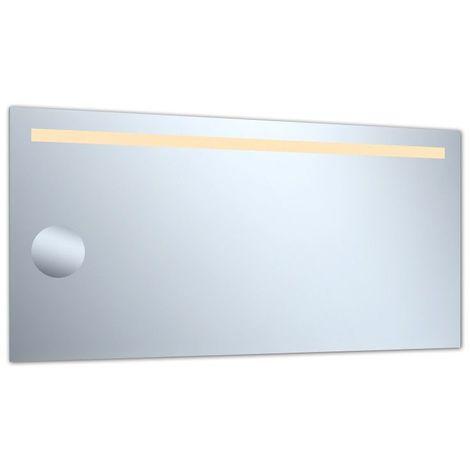 Miroir de salle de bains avec éclairage Led - Modèle Grossissant 120 - 60 cm x 120 cm (HxL)