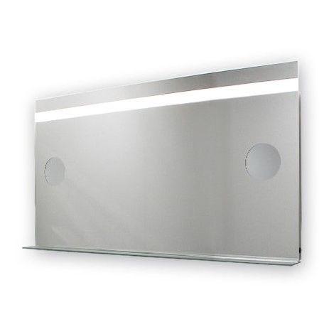 Miroir de salle de bains avec éclairage LED - Modèle Grossissant - 65 cm x 120 cm (HxL)