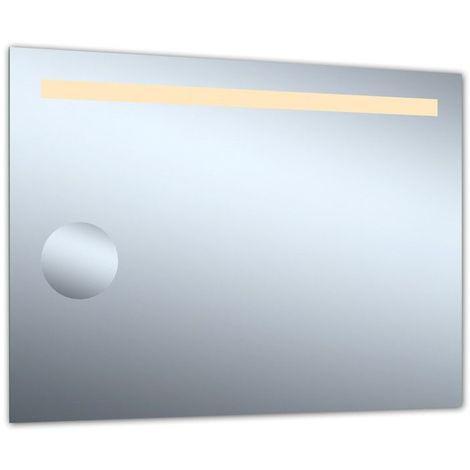Miroir de salle de bains avec éclairage Led - Modèle Grossissant 80 - 60 cm x 80 cm (HxL)