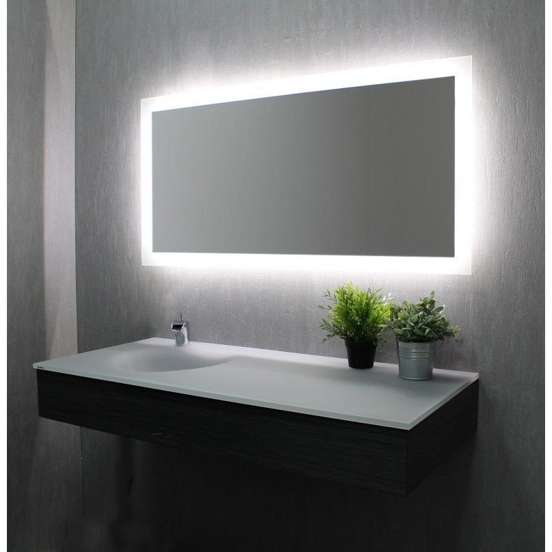 Miroir de salle de bains avec clairage led mod le led - Glace de salle de bain avec eclairage ...