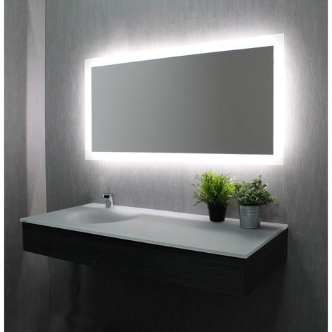 miroir de salle de bains avec clairage led mod le led. Black Bedroom Furniture Sets. Home Design Ideas