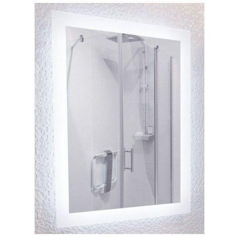 Miroir de salle de bains avec éclairage LED - Modèle Led 90 - 60 cm x 90 cm (HxL)
