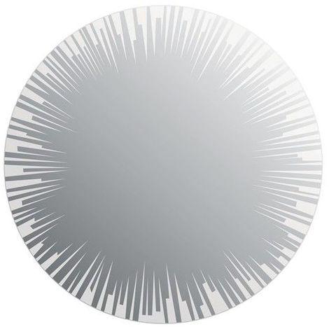 Miroir de salle de bains avec éclairage LED - Modèle Sun - Diamètre: 50 cm