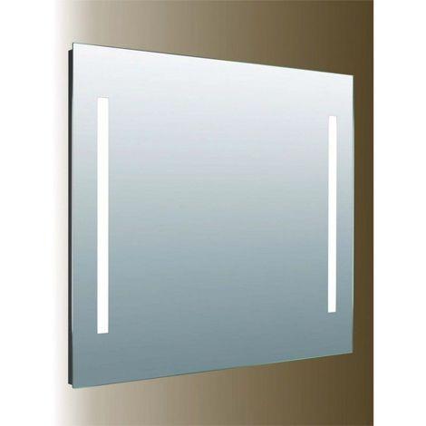 Miroir de salle de bains avec éclairage LED - Modèle Tendance 80 - 70 cm x 80 cm (HxL)
