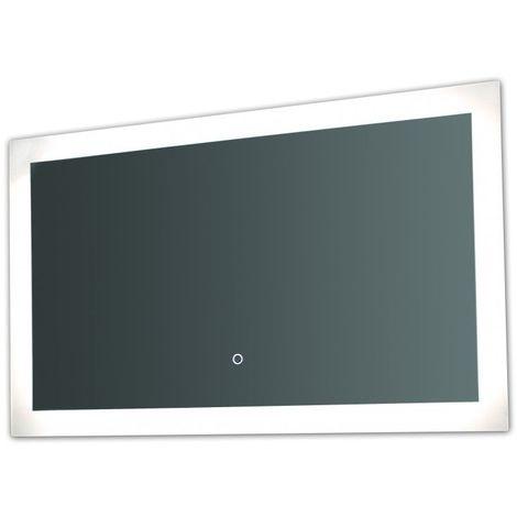 Miroir de salle de bains avec éclairage LED - Modèle Touch 100 - 60 cm x 100 cm (HxL)
