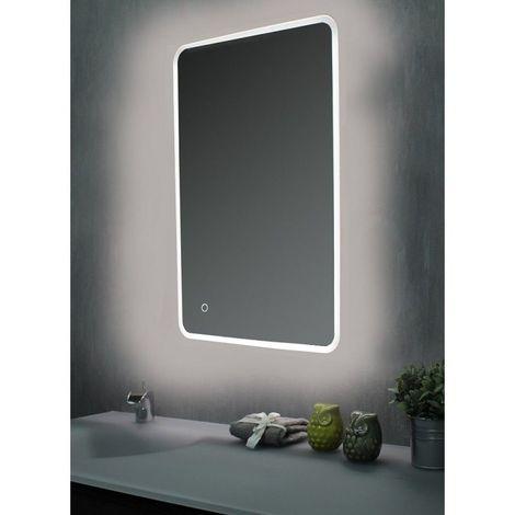 Miroir de salle de bains avec LED - 60 cm x 120 cm (HxL)