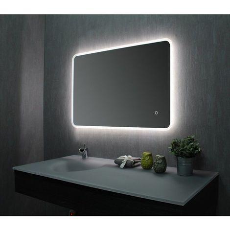miroir de salle de bains avec led 60 cm x 90 cm hxl. Black Bedroom Furniture Sets. Home Design Ideas