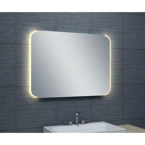 Miroir de salle de bains avec LED - 65 cm x 90 cm (HxL)