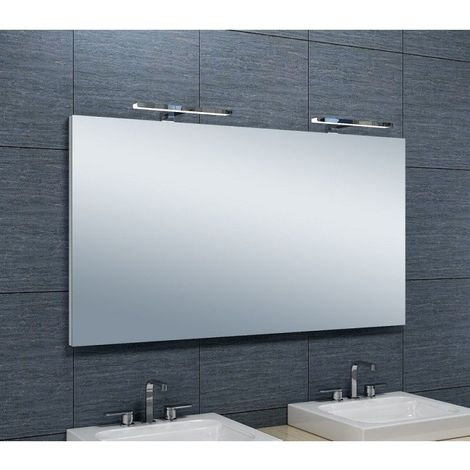 miroir de salle de bains avec spot led horizontale 65 cm. Black Bedroom Furniture Sets. Home Design Ideas