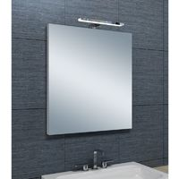 Miroir de salle de bains avec spot LED Horizontale - 65 cm x 60 cm (HxL)