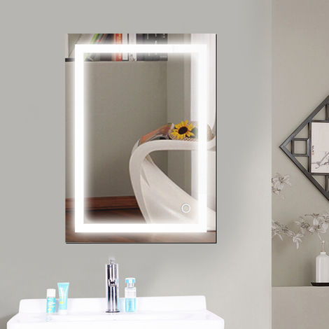 Miroir de salle de bain,Taille:50*70cm,LED Miroir