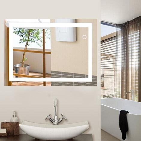 Miroir de salle de bain,Taille:60*80cm,LED Miroir