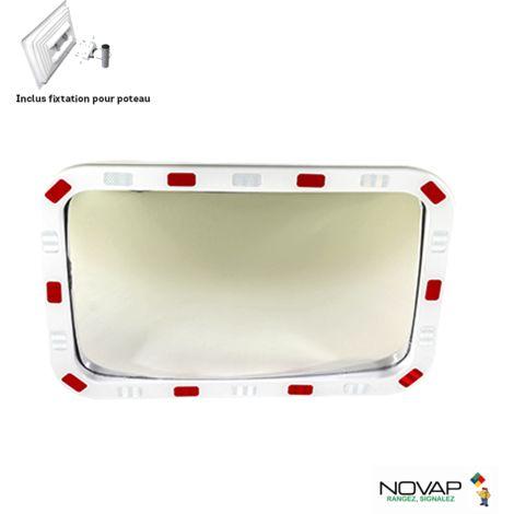 Miroir de sécurité pour voies privée - 600 x 400 mm - 6101512